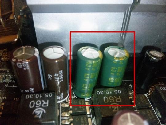 SUNCON製WG 6.3V 3300μFに交換