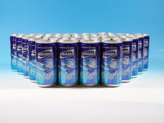 アクエリアス 限定本田応援缶