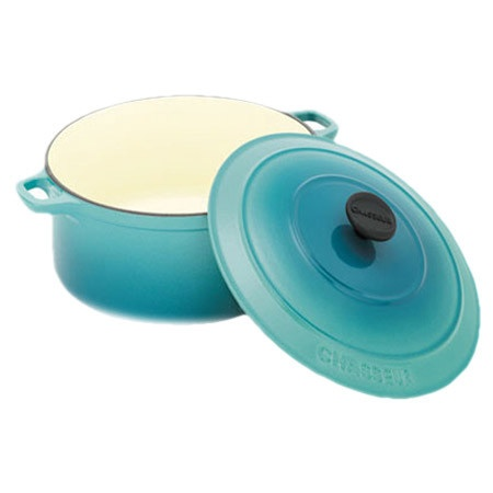 Chasseur Round Casserole Turquoise Blue