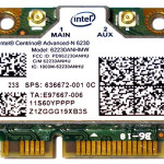 HP 636672-001 Intel Centrino Advanced-N 6230 802.11b/g/n 2x2 WiFi and Bluetooth 3.0+HS Combo Adapter