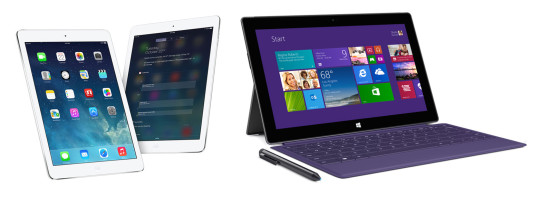 Surface 2 Pro vs iPad Air