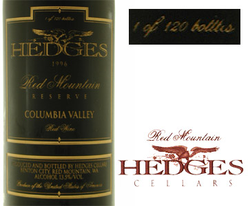 HEDGES CELLERS Red Mountain Reserver 1996